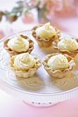 Tart shells with cream filling
