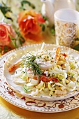 Prawn and chicory salad