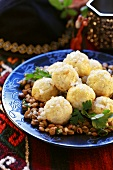 Dumplings for Jewish Pesach festival (Passover)