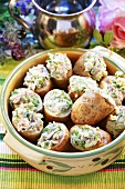 Baked potatoes with tuna filling