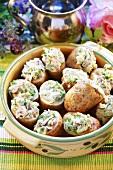 Baked Potatoes mit Thunfischfüllung