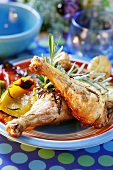 Chicken legs with rosemary