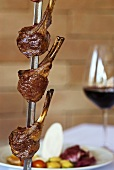 Lamb chops on skewer, churrasco style (Brazil)