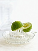 Lime on citrus squeezer