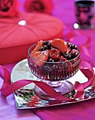 Berry compote for Valentine's Day