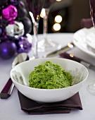 Pea puree (Christmas)
