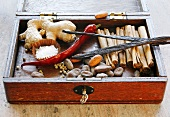 Spices in casket