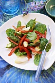 Asparagus, spinach and pepper salad