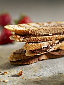 Panino del cioccolato (Toasted chocolate spread sandwiches)