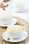 Lobster foam soup in coffee cup