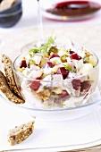 Matjes herring salad with beetroot