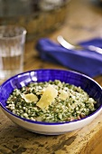 Spinach and basil risotto