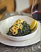 Risotto nero (Rice with squid ink, Italy)