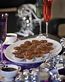 Coffee mini-muffins with chocolate mascarpone cream
