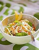 Linguine with courgette and lemon sauce