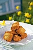Creamy egg nuggets with crispy coating