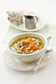 Chicken giblet and vegetable soup