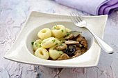 Beef goulash with kluski slaskie (Potato dumplings, Silesia)