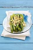 Asparagus with lemon butter and flaked almonds