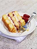 Strawberry sponge slice