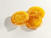 Three candied orange slices