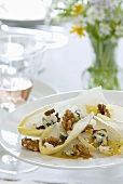Chicory salad with walnuts and Roquefort