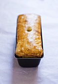 Terrine en croute in loaf tin