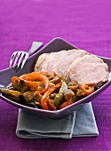 Basque roast veal with vegetables