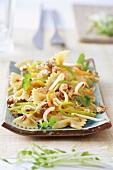Asian farfalle salad