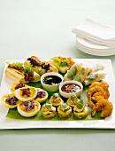 Appetiser platter with dips