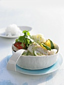 Green haddock curry