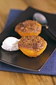 Baked peach with Amaretto