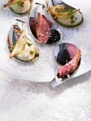Duck breast with elderberry & red wine sauce & celeriac puree
