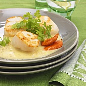 Scallops with butter sauce