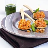 Salmon tartare with pistou