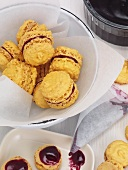 Saffron macarons (small French cakes)