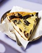 A piece of prune tart