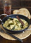 Chicken korma (Chicken in Indian curry sauce)