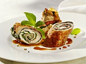 Pork roulades with sage