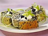 Caviar cake with sour cream