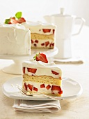 Prosecco strawberry cake