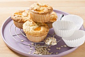 Fruity oat muffins