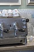 Espresso machine in a cafeteria
