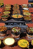Buffet of dishes from north-eastern Brazil