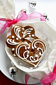 Gingerbread heart and star