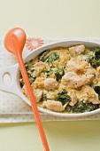 Chicken and spinach bake