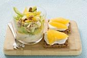 Fruity celery salad