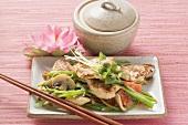 Pute mit Gemüse asiatisch