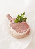 Pork chop from an Iberian pig