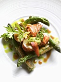 Lobster salad with green asparagus